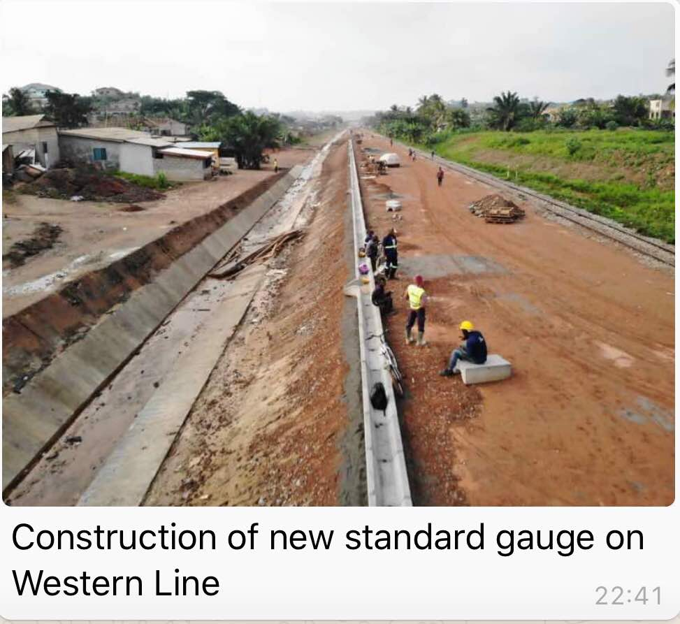 RAILWAYS DEVELOPMENT: CONSTRUCTION ON WESTERN AND EASTERN LINES SPEEDS OFF STEADILY