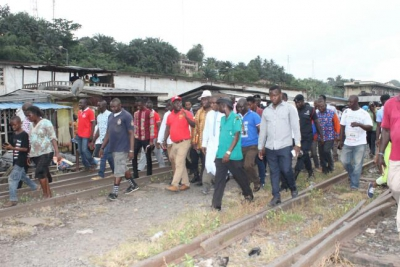 Minister for Railways Development and Technical Team Inspects 'Old ' Tarkwa Railway Station