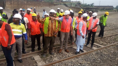 Minister for Railways Development meets management of Ghana Manganese Company, Tarkwa
